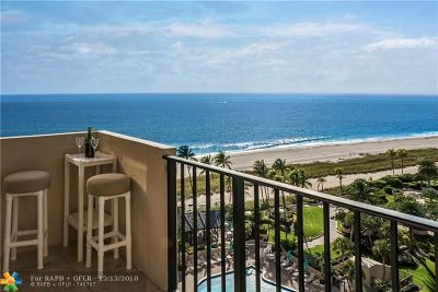Lauderdale By The Sea Condo/Townhouse For Sale: 5100 N Ocean Blvd #1103