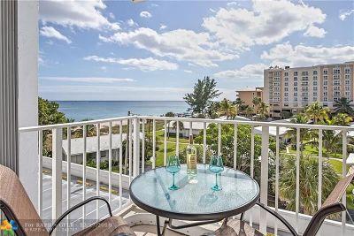 Pompano Beach Condo/Townhouse For Sale: 1010 S Ocean Blvd #504