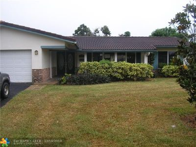 Coral Springs Single Family Home For Sale: 7514 NW 42nd St