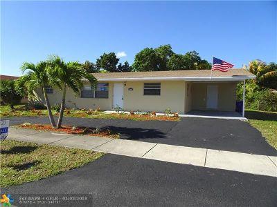 Pompano Beach Single Family Home For Sale: 4011 NE 6th Ave
