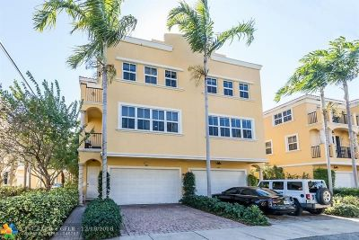 Fort Lauderdale Condo/Townhouse For Sale: 1606 NE 9th Street #19