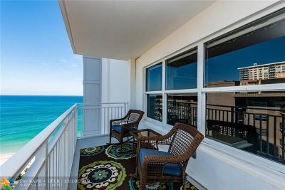 Fort Lauderdale Condo/Townhouse For Sale: 3750 Galt Ocean Dr #1708