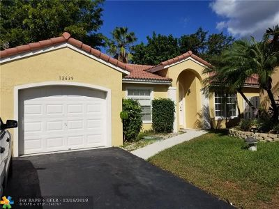 Sunrise Single Family Home For Sale: 12639 NW 12th Ct