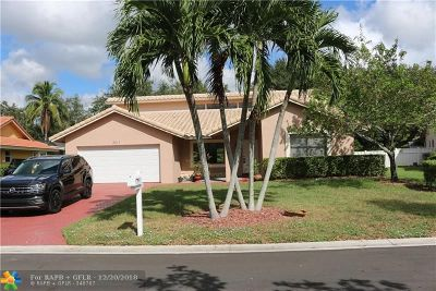 Coral Springs Single Family Home For Sale: 8617 NW 55th Pl