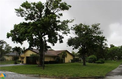 Coral Springs Single Family Home For Sale: 8366 NW 7th St