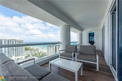 Fort Lauderdale Condo/Townhouse For Sale: 551 N Fort Lauderdale Beach Blvd #1802