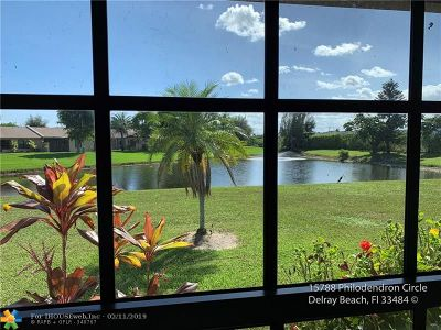 Delray Beach Condo/Townhouse For Sale: 15788 Philodendron Cir