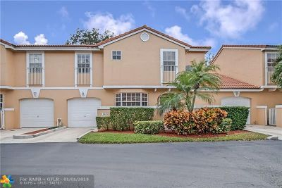 Coral Springs Condo/Townhouse For Sale: 11325 Lakeview Dr #4N