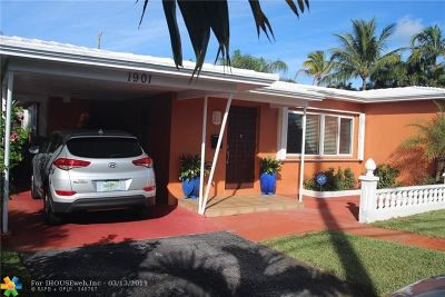 Fort Lauderdale Single Family Home For Sale: 1901 NE 18th St
