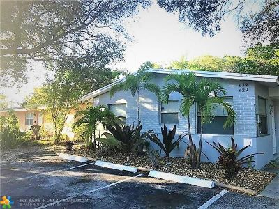 Oakland Park Multi Family Home For Sale: 629 NE 36th St
