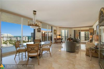 Fort Lauderdale Condo/Townhouse For Sale: 100 S Birch Rd #2302