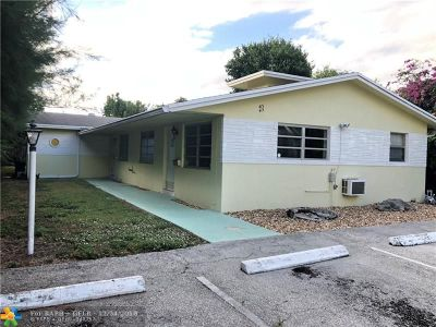 Pompano Beach Multi Family Home For Sale: 413 NE 23rd Ave