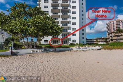 Pompano Beach Condo/Townhouse For Sale: 1500 S Ocean Blvd #105