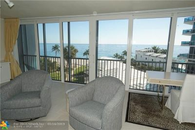 Pompano Beach Condo/Townhouse For Sale: 1530 S Ocean Blvd #503