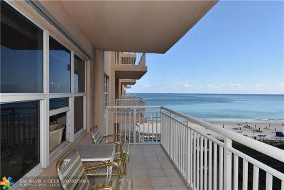 Condo/Townhouse For Sale: 3850 Galt Ocean Dr #504