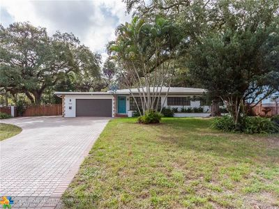 Fort Lauderdale Single Family Home For Sale: 3000 Riverland Rd
