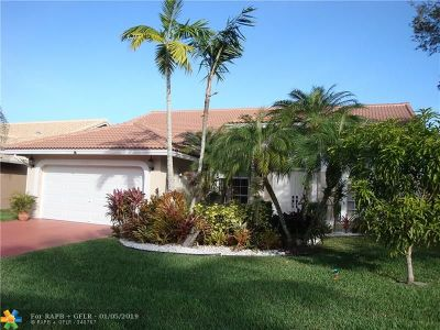 Coral Springs Single Family Home For Sale: 12309 SW 1st St