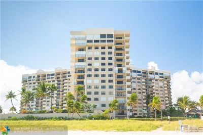 Lauderdale By The Sea Condo/Townhouse For Sale: 4900 N Ocean Blvd #421
