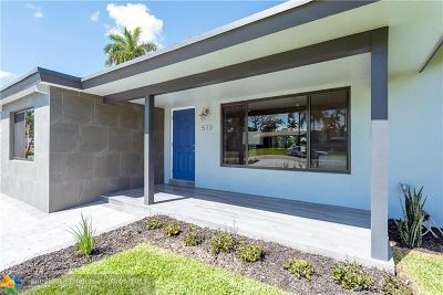 Wilton Manors Single Family Home For Sale: 513 NW 30th St