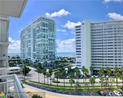 Fort Lauderdale Condo/Townhouse For Sale: 1920 S Ocean Dr #805