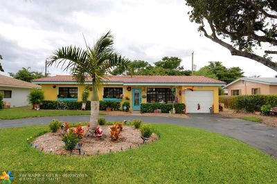 Pompano Beach Single Family Home For Sale: 2560 NE 19th St