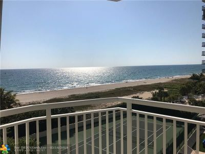 Lauderdale By The Sea Condo/Townhouse For Sale: 1770 S Ocean Blvd #605