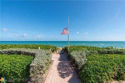 Hillsboro Beach Condo/Townhouse For Sale: 1187 Hillsboro Mile #12W