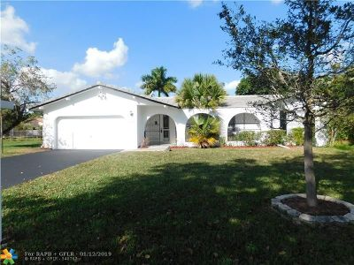 Coral Springs Single Family Home For Sale: 11531 NW 30th St