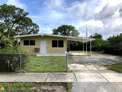 Lauderhill Single Family Home For Sale: 3120 NW 3rd St