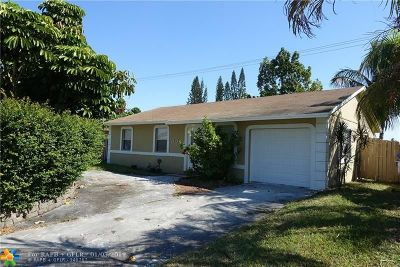 North Lauderdale Single Family Home For Sale: 510 SW 81st Ter
