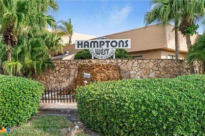 North Lauderdale Condo/Townhouse For Sale: 8040 Hampton Blvd #310