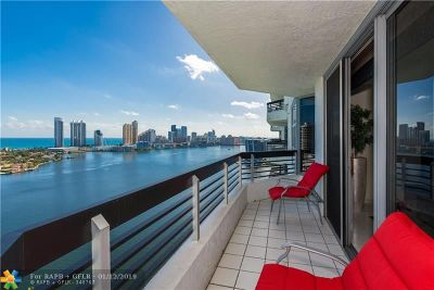 Aventura Condo/Townhouse For Sale: 3530 Mystic Pointe Dr #2613