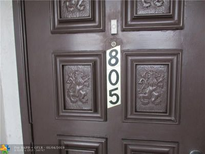Lauderhill Condo/Townhouse For Sale: 5860 NW 44th St #805