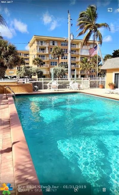 Lauderdale By The Sea Condo/Townhouse For Sale: 4540 N Ocean Dr #403