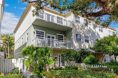 Fort Lauderdale Condo/Townhouse For Sale: 1105 Waverly Rd #1105
