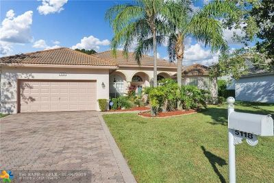 Coral Springs Single Family Home For Sale: 5118 NW 57th Way