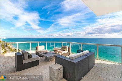 Hollywood Condo/Townhouse For Sale: 6051 N Ocean Dr #PH5