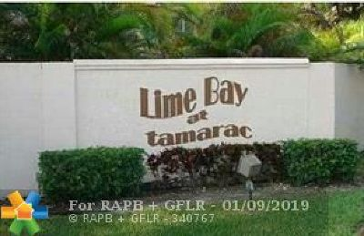 Tamarac Condo/Townhouse For Sale: 9400 Lime Bay Blvd #307