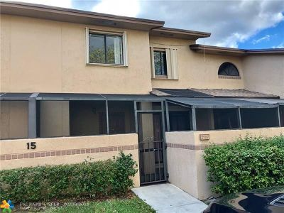 Coconut Creek Condo/Townhouse For Sale: 2157 NW 37th Av #2157