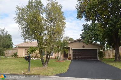 Coral Springs Rental For Rent: 8397 NW 16th St