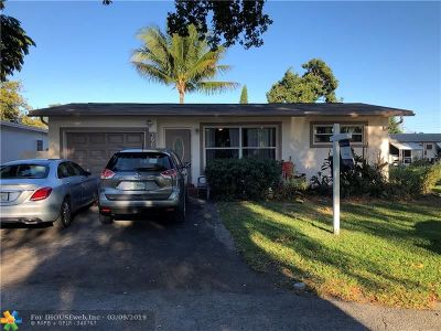 Sunrise Single Family Home For Sale: 2960 NW 68th Way