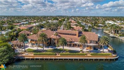 Lighthouse Point Single Family Home For Sale: 3100 NE 46th St