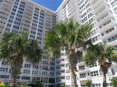 Broward County Condo/Townhouse For Sale: 405 N Ocean Blvd #607