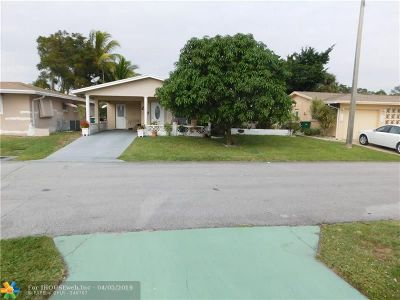 Tamarac Single Family Home For Sale: 4641 NW 44th Ct