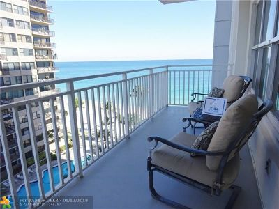 Fort Lauderdale Condo/Townhouse For Sale: 3750 Galt Ocean Dr #810