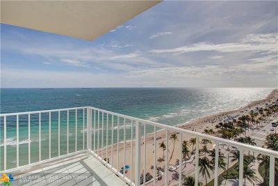 Fort Lauderdale Condo/Townhouse For Sale: 209 N Fort Lauderdale Beach Blvd #14E