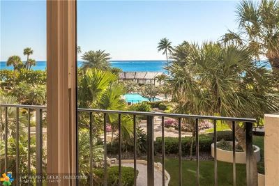 Lauderdale By The Sea Condo/Townhouse For Sale: 5100 N Ocean Blvd #417