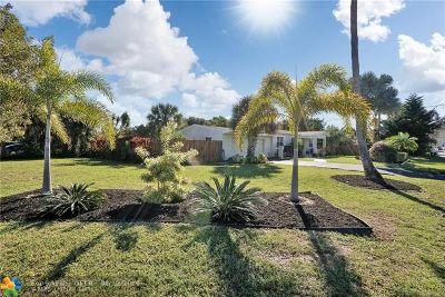 Pompano Beach Single Family Home For Sale: 1650 NE 24th Ave