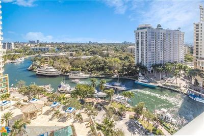 Fort Lauderdale Condo/Townhouse For Sale: 347 N New River Dr E #1403