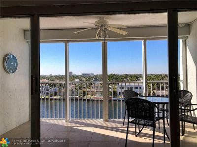 Pompano Beach Condo/Townhouse For Sale: 299 N Riverside Dr #604